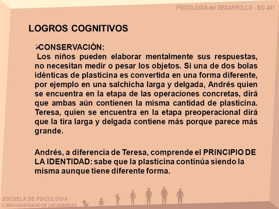 LOGROS COGNITIVOS CONSERVACIÓN: