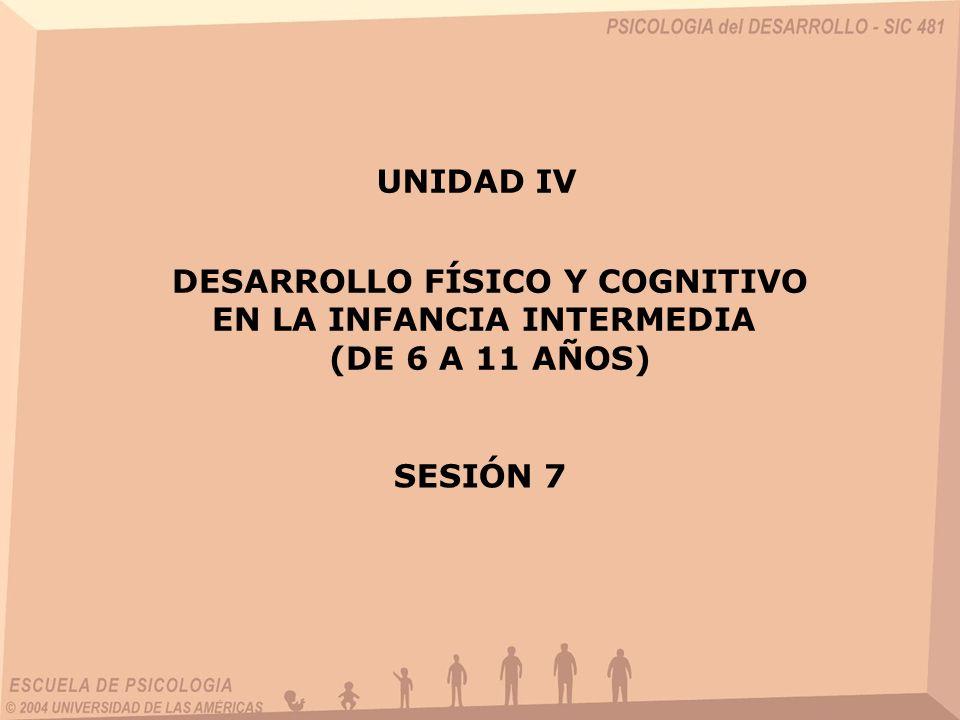 DESARROLLO FÍSICO Y COGNITIVO EN LA INFANCIA INTERMEDIA