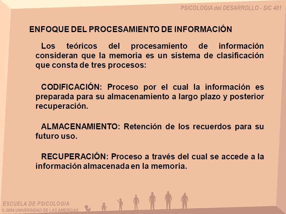 ENFOQUE DEL PROCESAMIENTO DE INFORMACIÓN