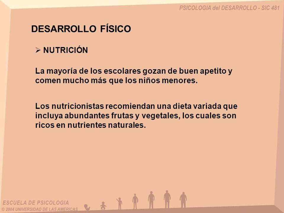 DESARROLLO FÍSICO NUTRICIÓN