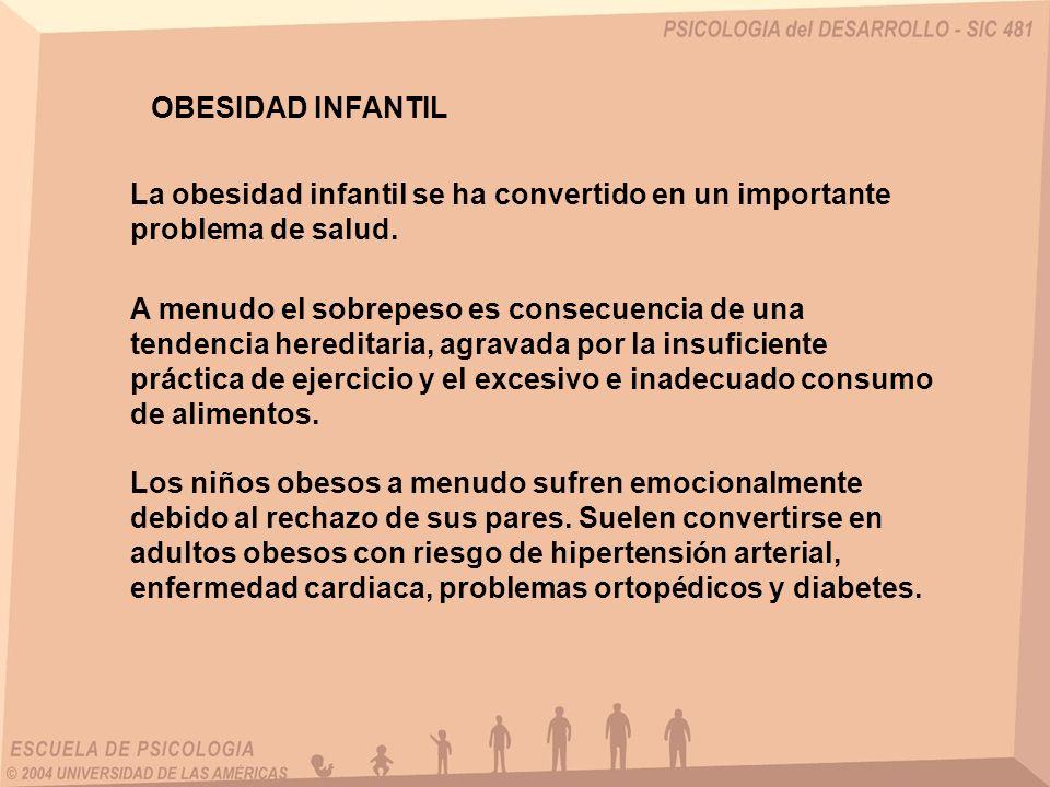 OBESIDAD INFANTILLa obesidad infantil se ha convertido en un importante problema de salud.