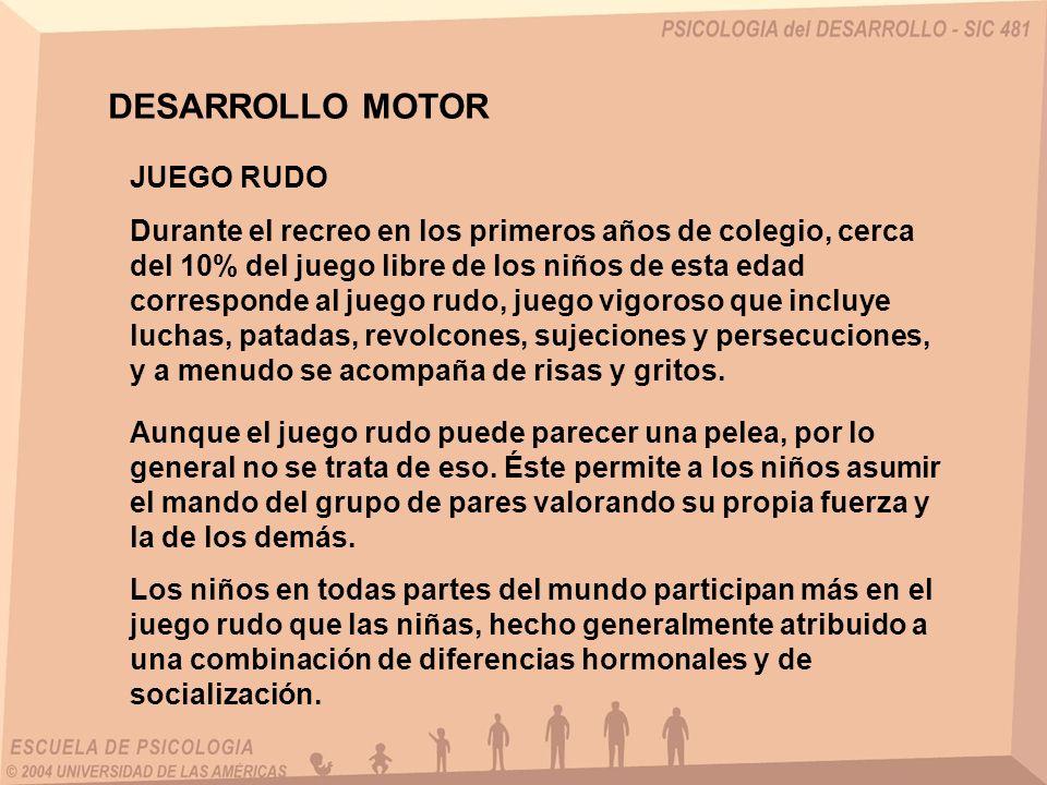 DESARROLLO MOTOR JUEGO RUDO
