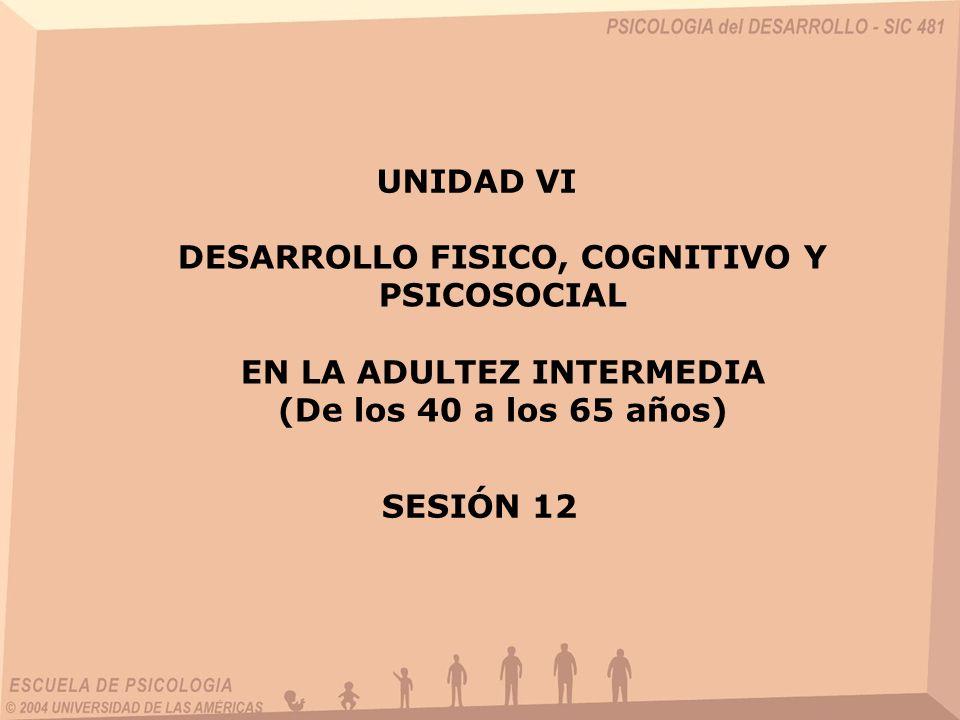 DESARROLLO FISICO, COGNITIVO Y PSICOSOCIAL EN LA ADULTEZ INTERMEDIA