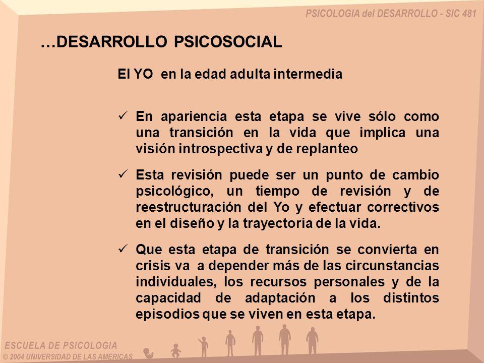 …DESARROLLO PSICOSOCIAL