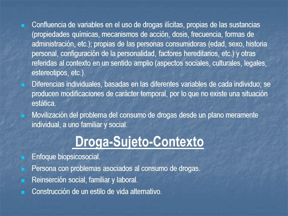 Droga-Sujeto-Contexto