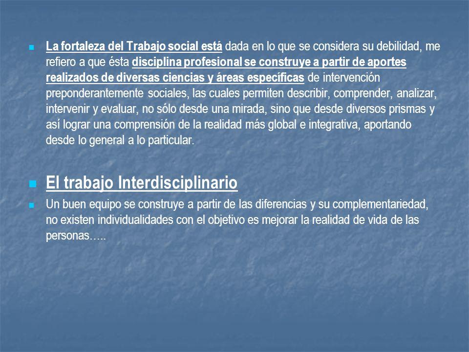 El trabajo Interdisciplinario