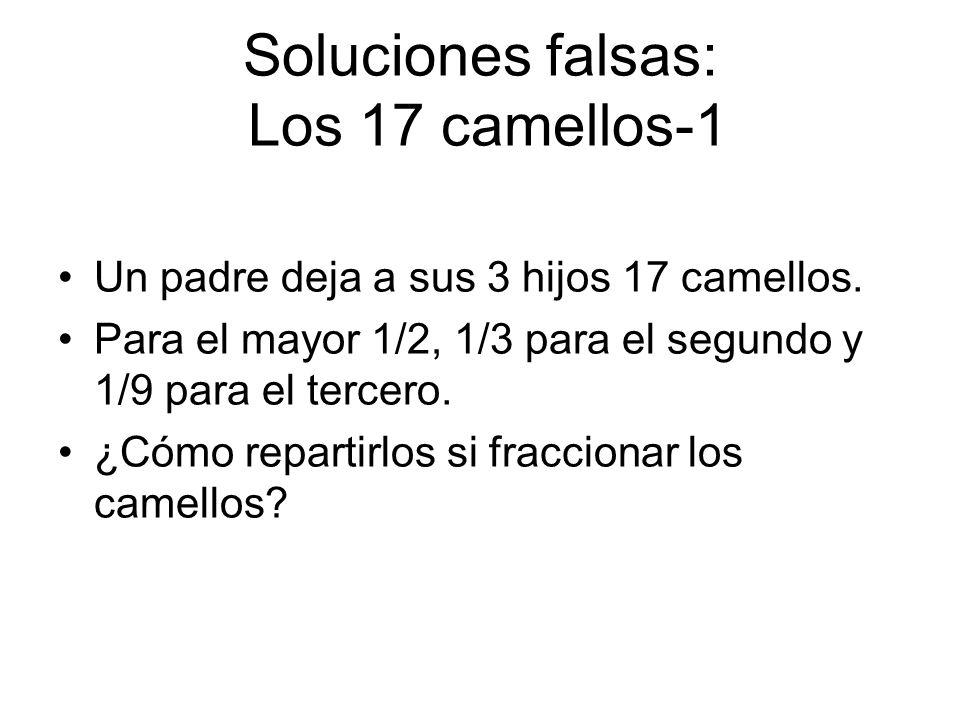 Soluciones falsas: Los 17 camellos-1