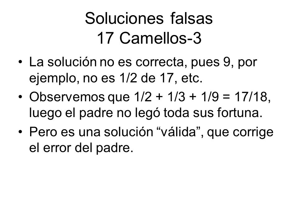 Soluciones falsas 17 Camellos-3