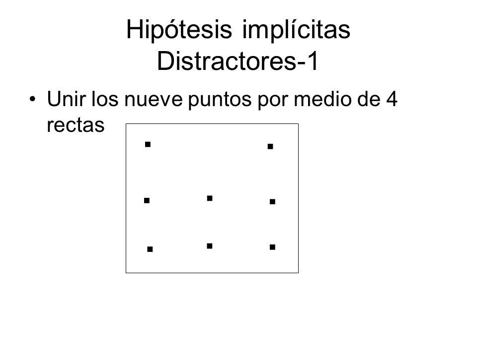 Hipótesis implícitas Distractores-1