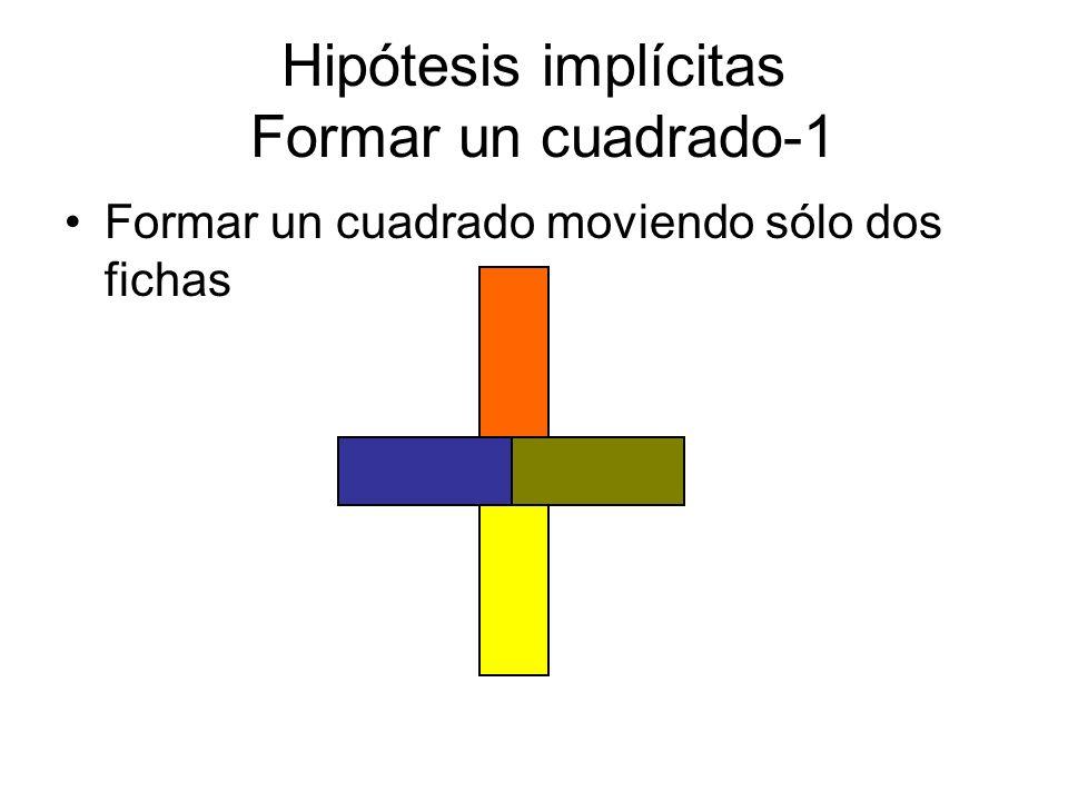 Hipótesis implícitas Formar un cuadrado-1