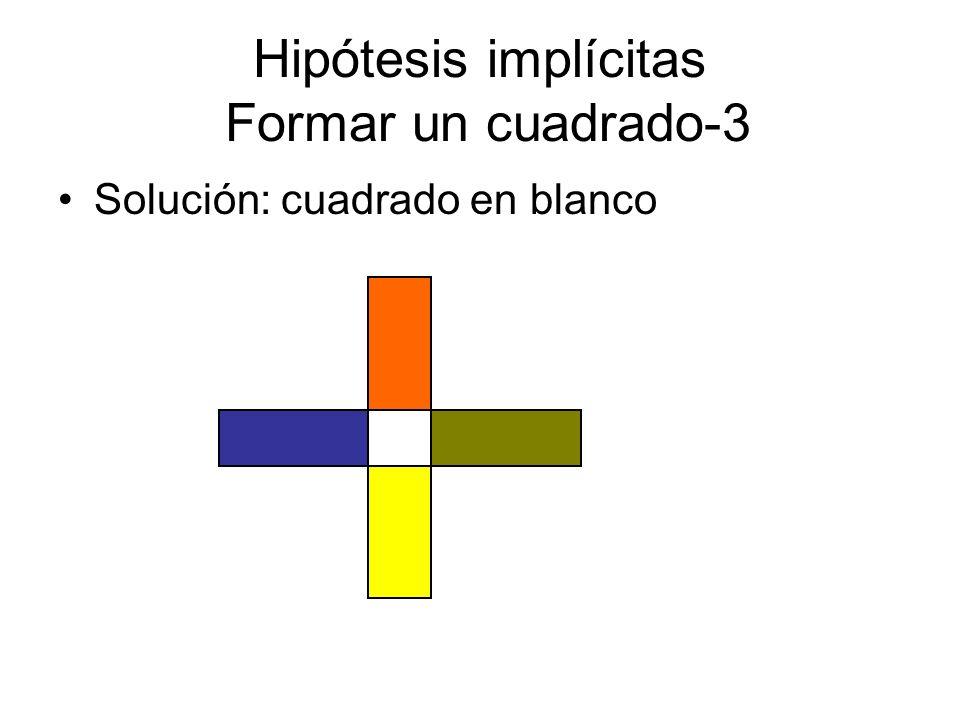 Hipótesis implícitas Formar un cuadrado-3