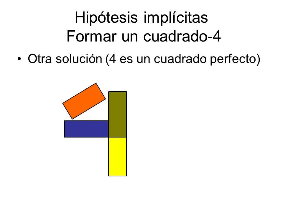 Hipótesis implícitas Formar un cuadrado-4