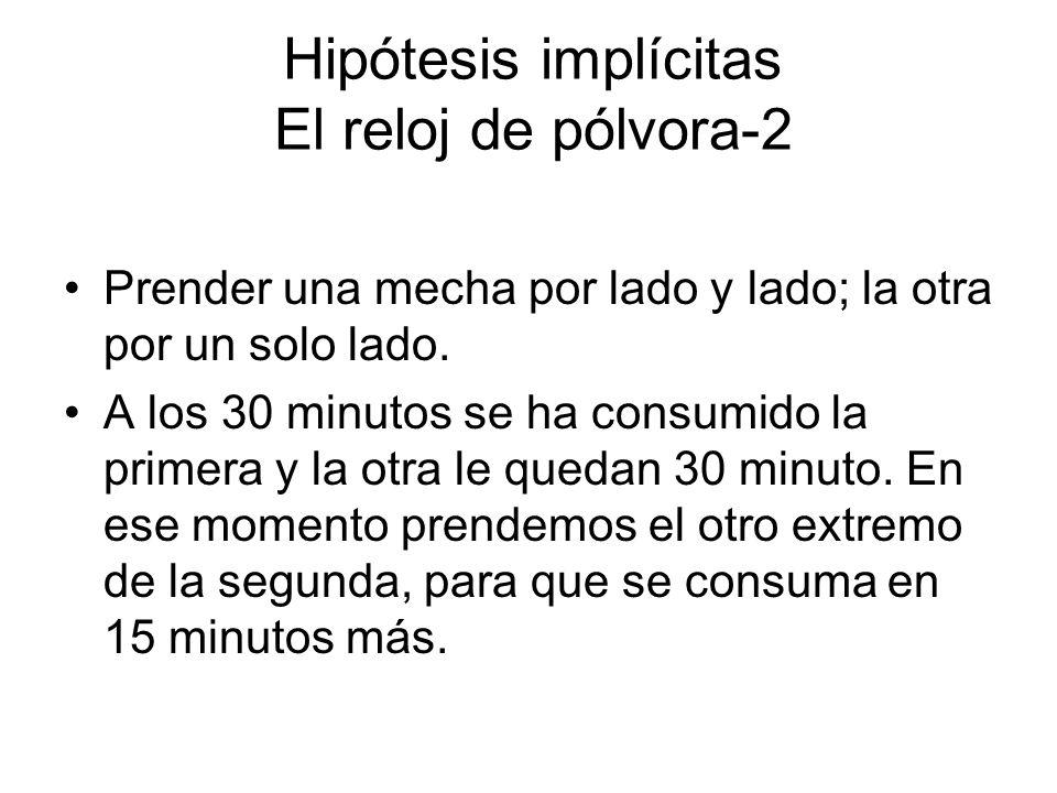 Hipótesis implícitas El reloj de pólvora-2