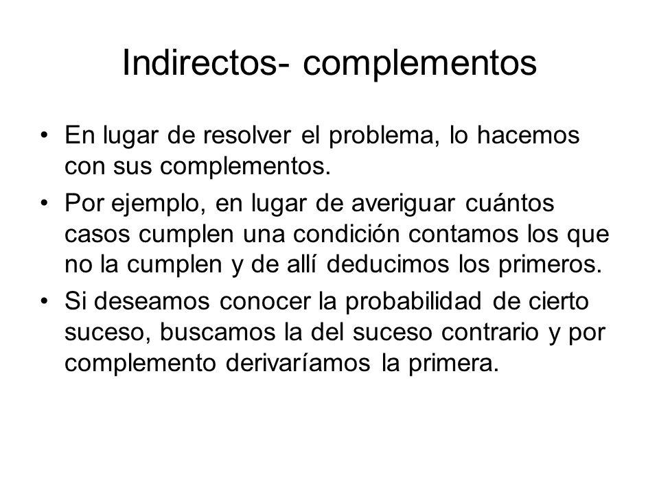 Indirectos- complementos