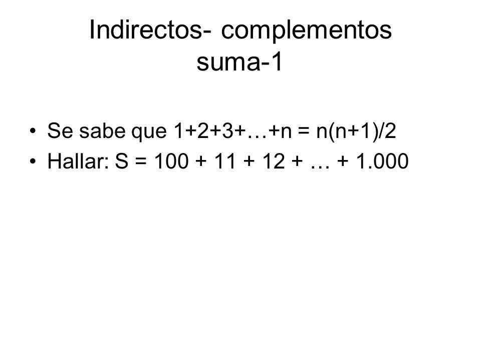 Indirectos- complementos suma-1