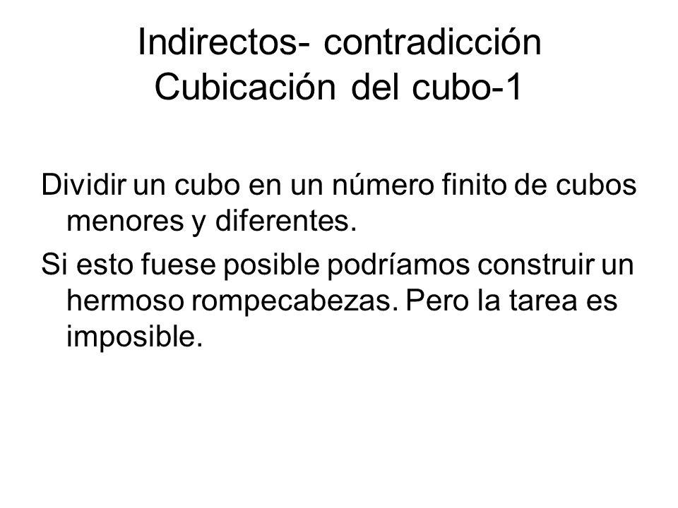 Indirectos- contradicción Cubicación del cubo-1