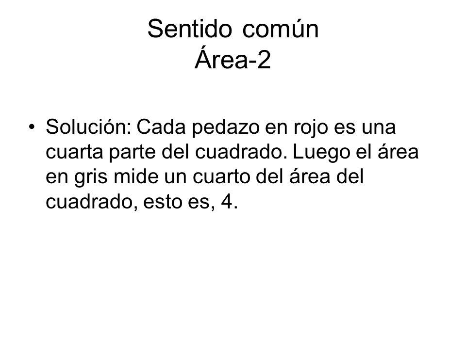 Sentido común Área-2