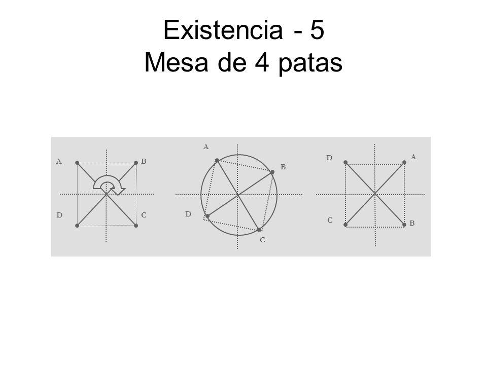 Existencia - 5 Mesa de 4 patas