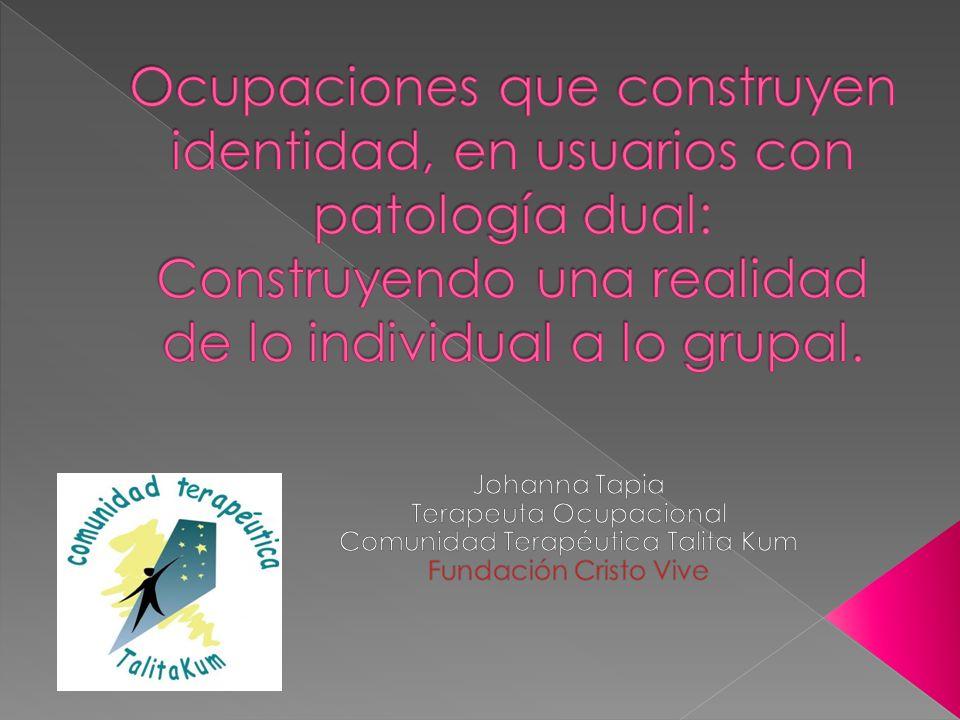 Ocupaciones que construyen identidad, en usuarios con patología dual: Construyendo una realidad de lo individual a lo grupal.
