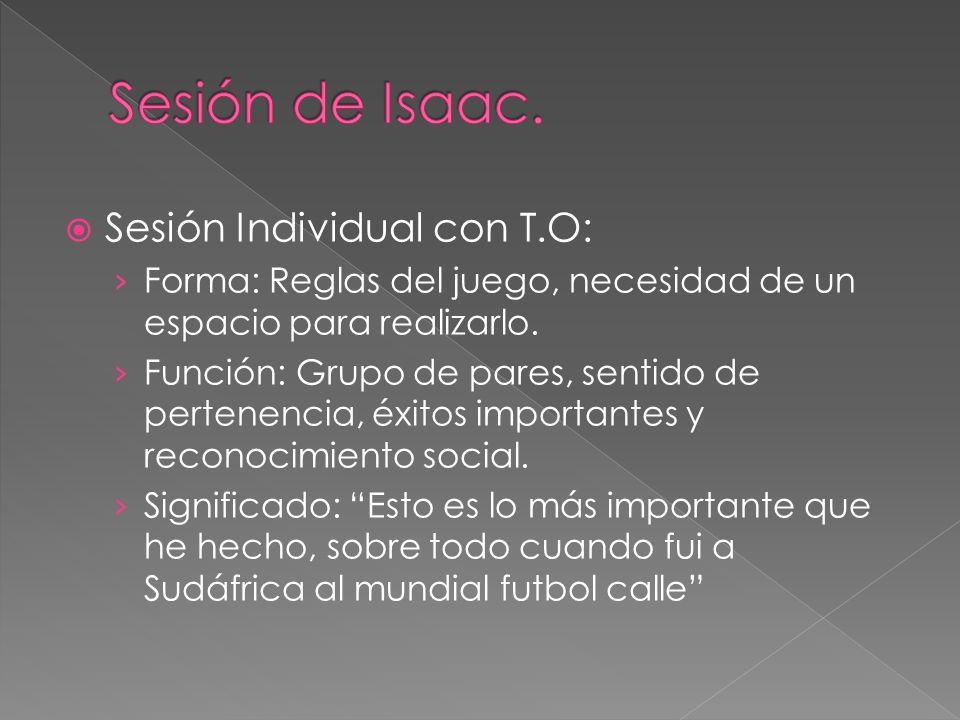 Sesión de Isaac. Sesión Individual con T.O: