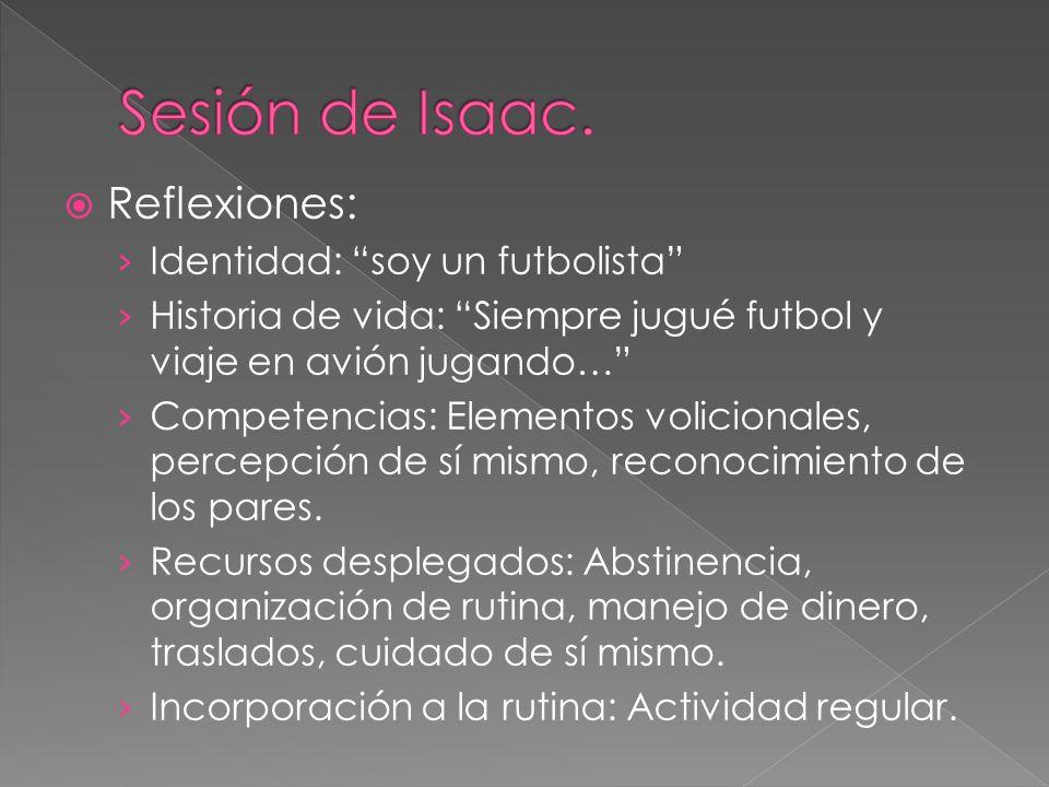 Sesión de Isaac. Reflexiones: Identidad: soy un futbolista