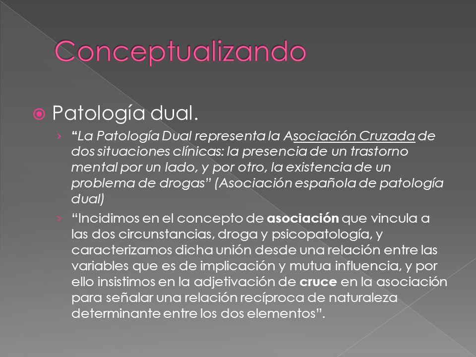 Conceptualizando Patología dual.