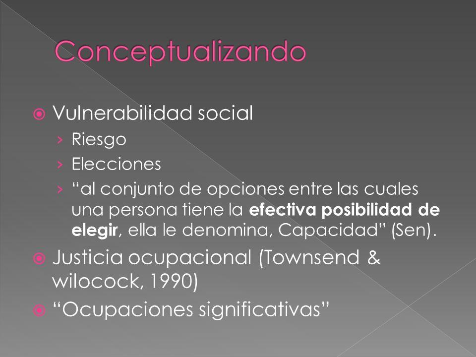 Conceptualizando Vulnerabilidad social