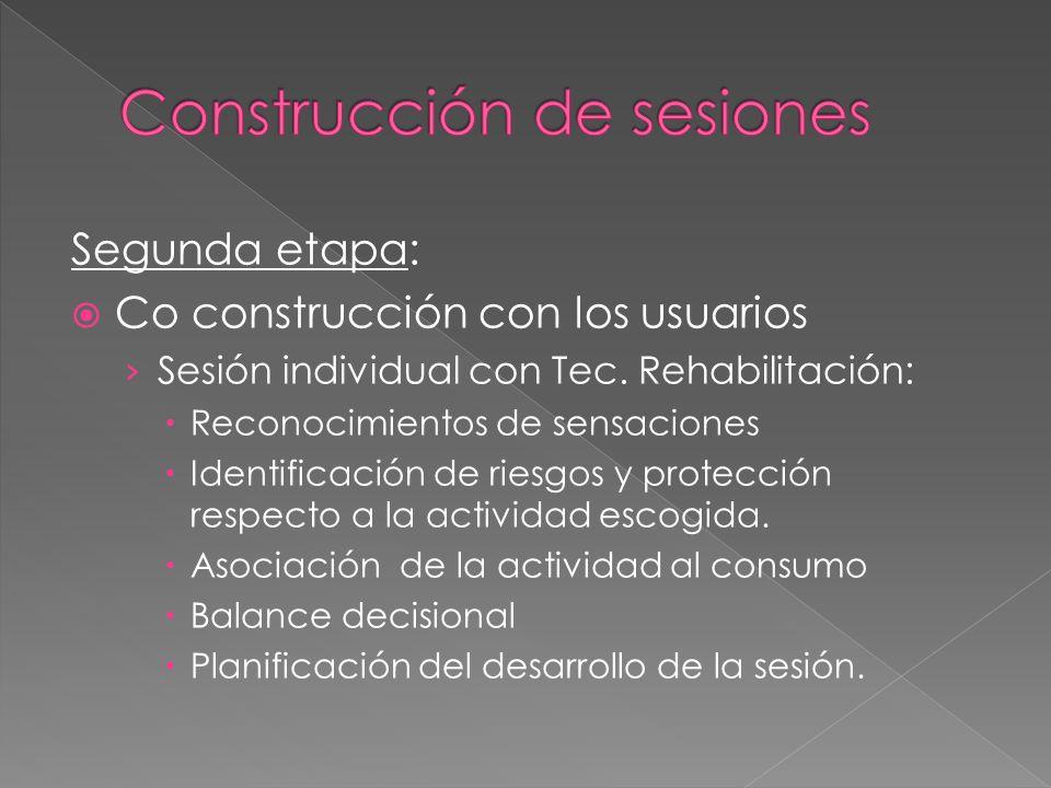 Construcción de sesiones