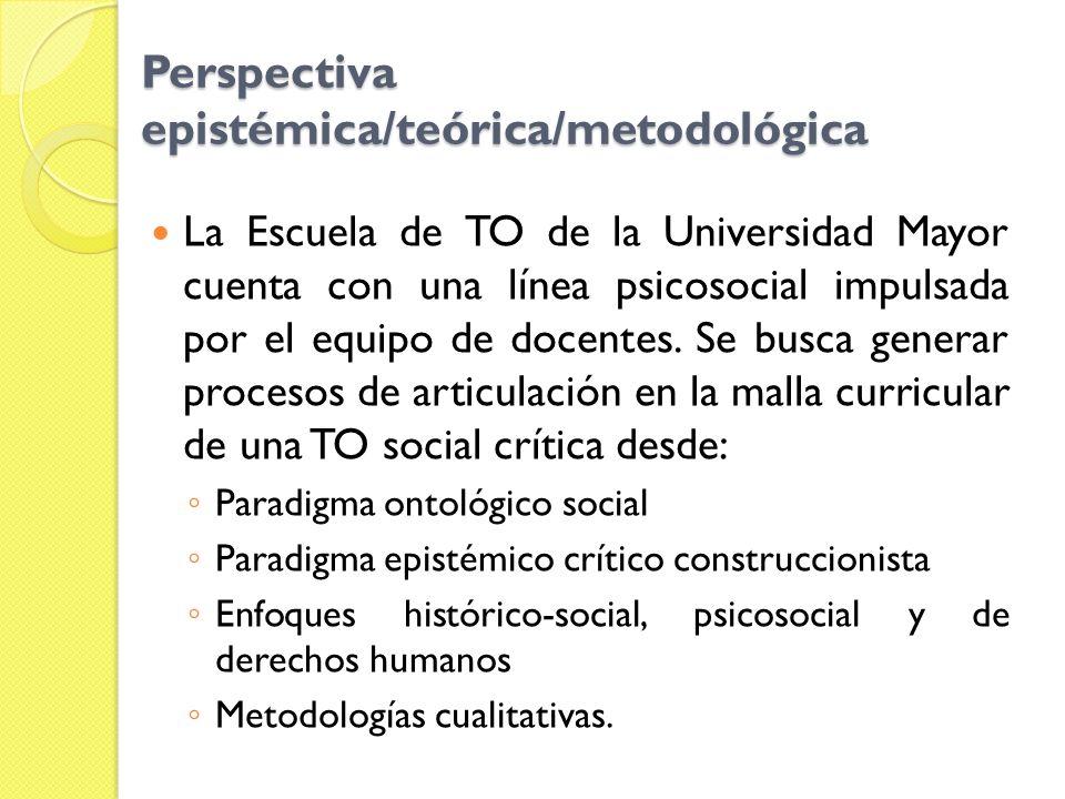 Perspectiva epistémica/teórica/metodológica