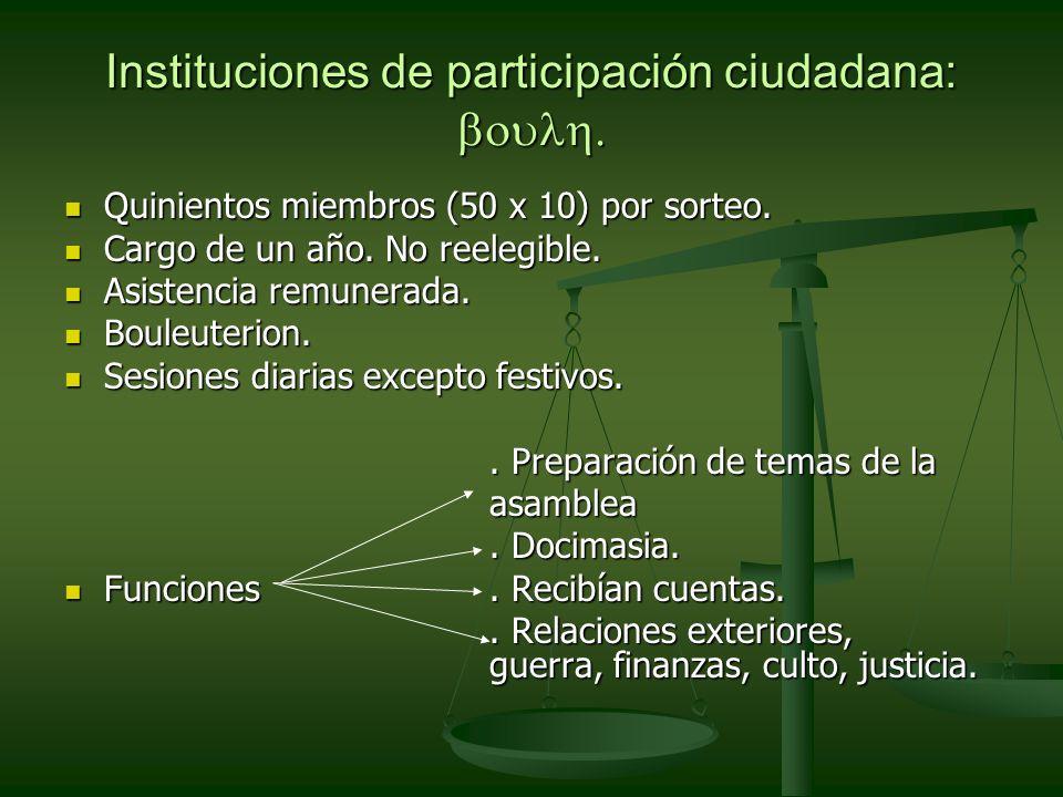 Instituciones de participación ciudadana: boulh.