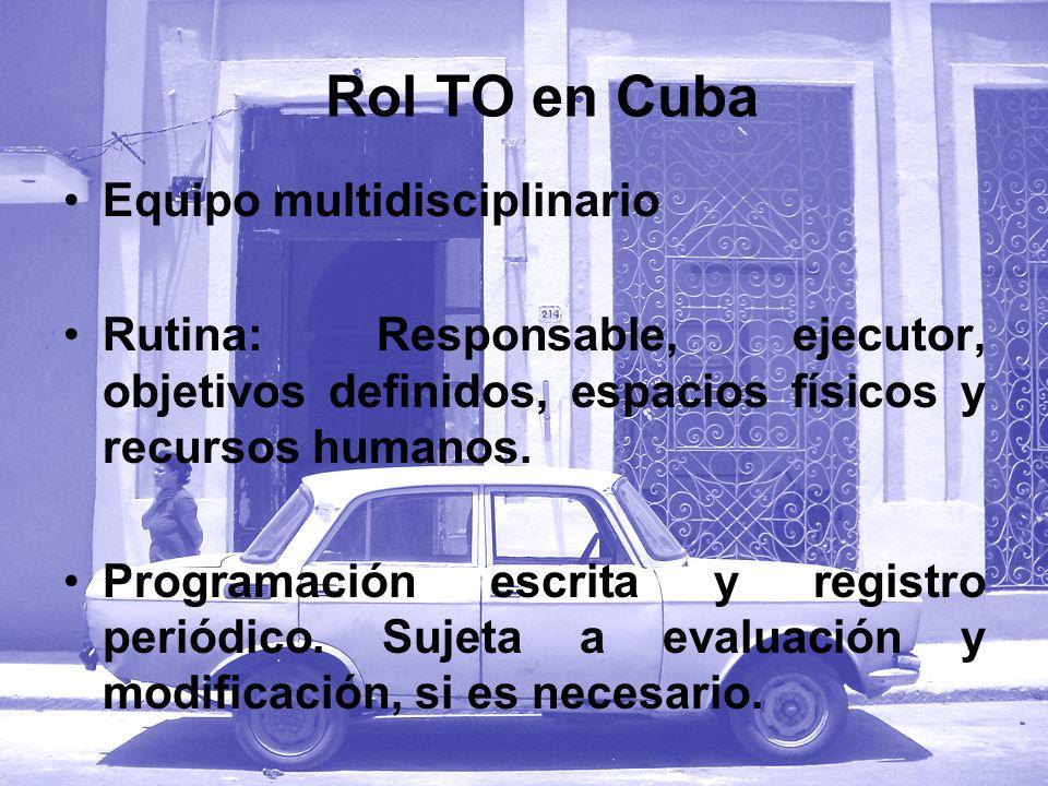 Rol TO en Cuba Equipo multidisciplinario
