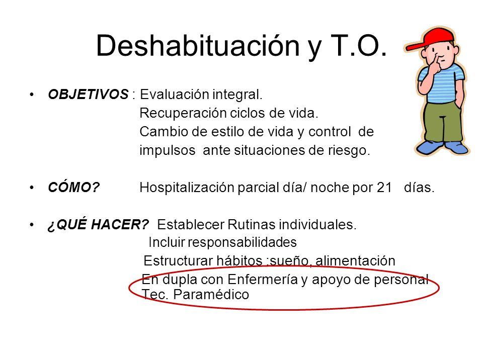 Deshabituación y T.O. OBJETIVOS : Evaluación integral.