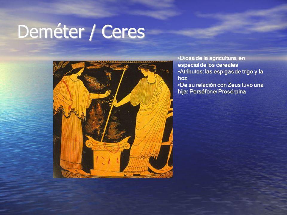Deméter / Ceres Diosa de la agricultura, en especial de los cereales