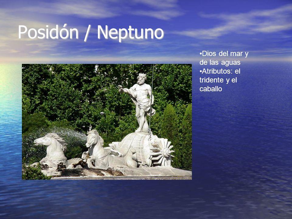 Posidón / Neptuno Dios del mar y de las aguas