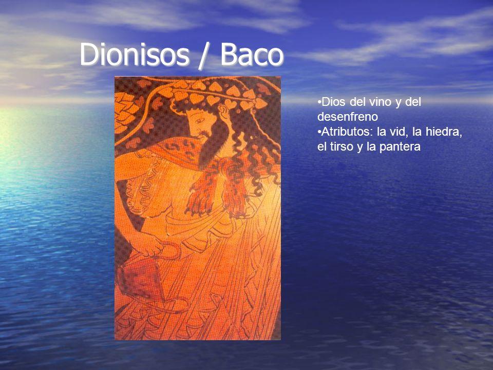 Dionisos / Baco Dios del vino y del desenfreno