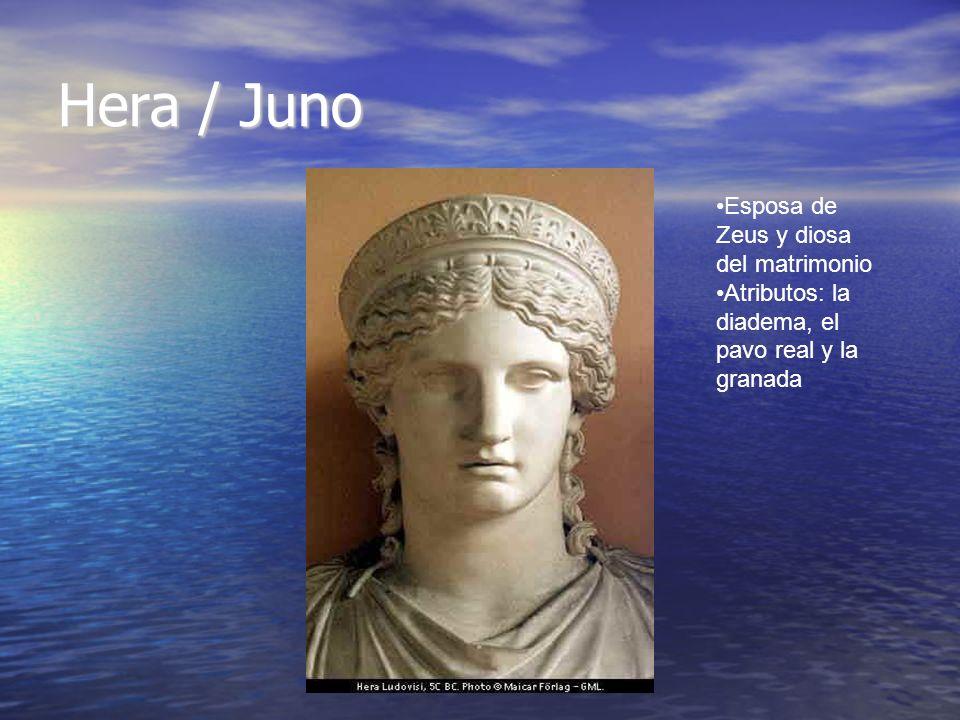 Hera / Juno Esposa de Zeus y diosa del matrimonio
