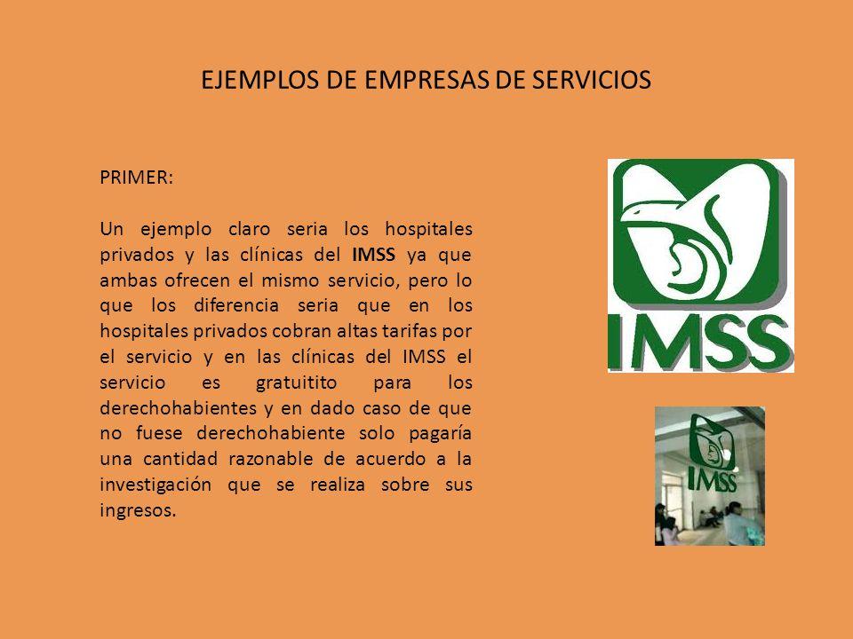 EJEMPLOS DE EMPRESAS DE SERVICIOS