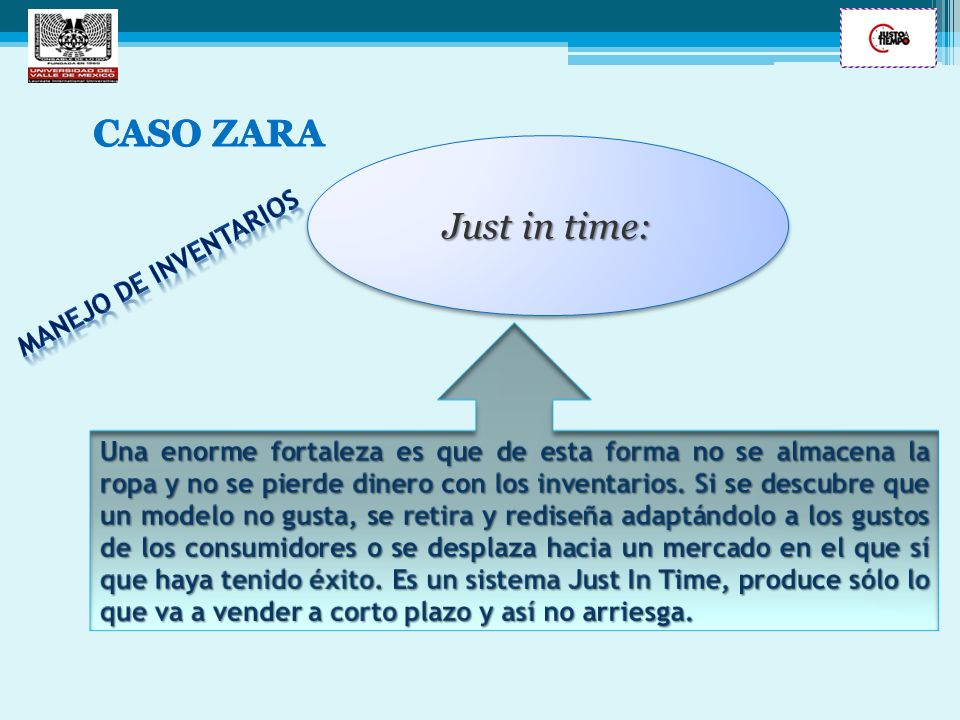 CASO ZARA Just in time: Manejo de inventarios