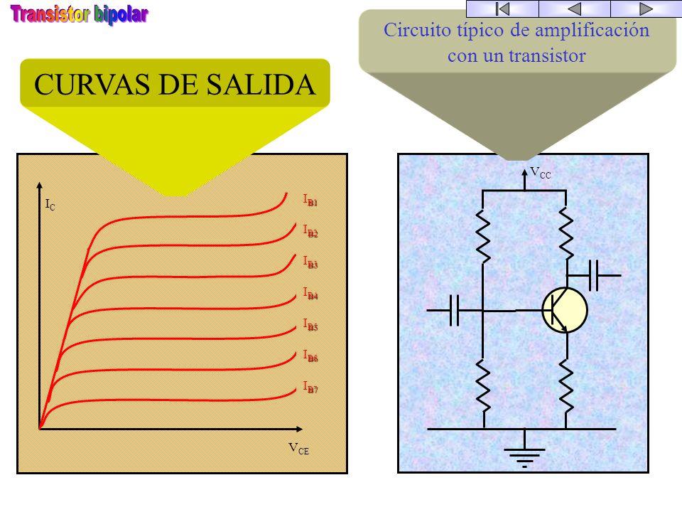 Circuito típico de amplificación con un transistor