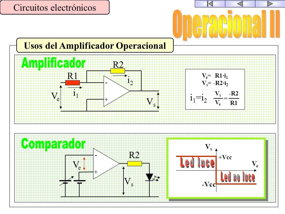 Usos del Amplificador Operacional