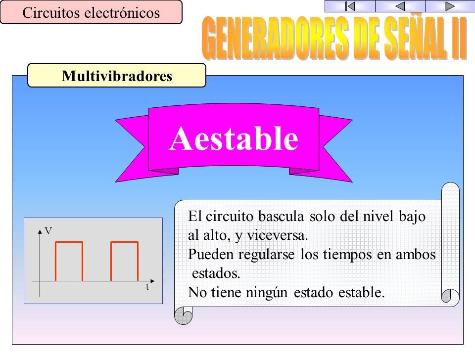 Aestable GENERADORES DE SEÑAL II Circuitos electrónicos