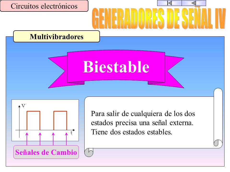 Biestable GENERADORES DE SEÑAL IV Circuitos electrónicos