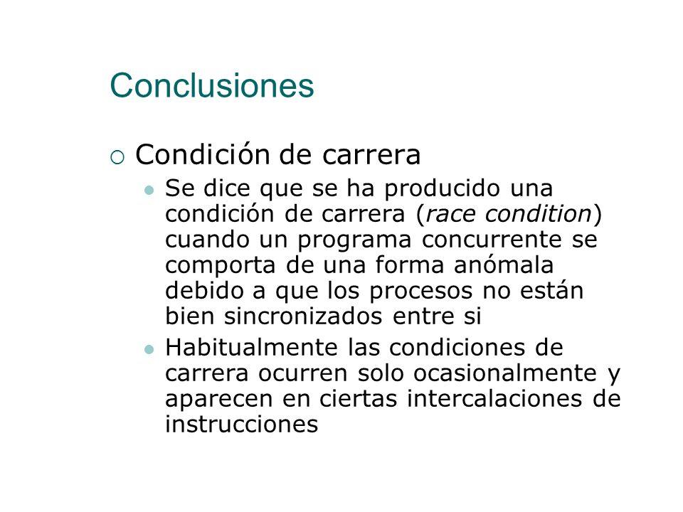 Conclusiones Condición de carrera
