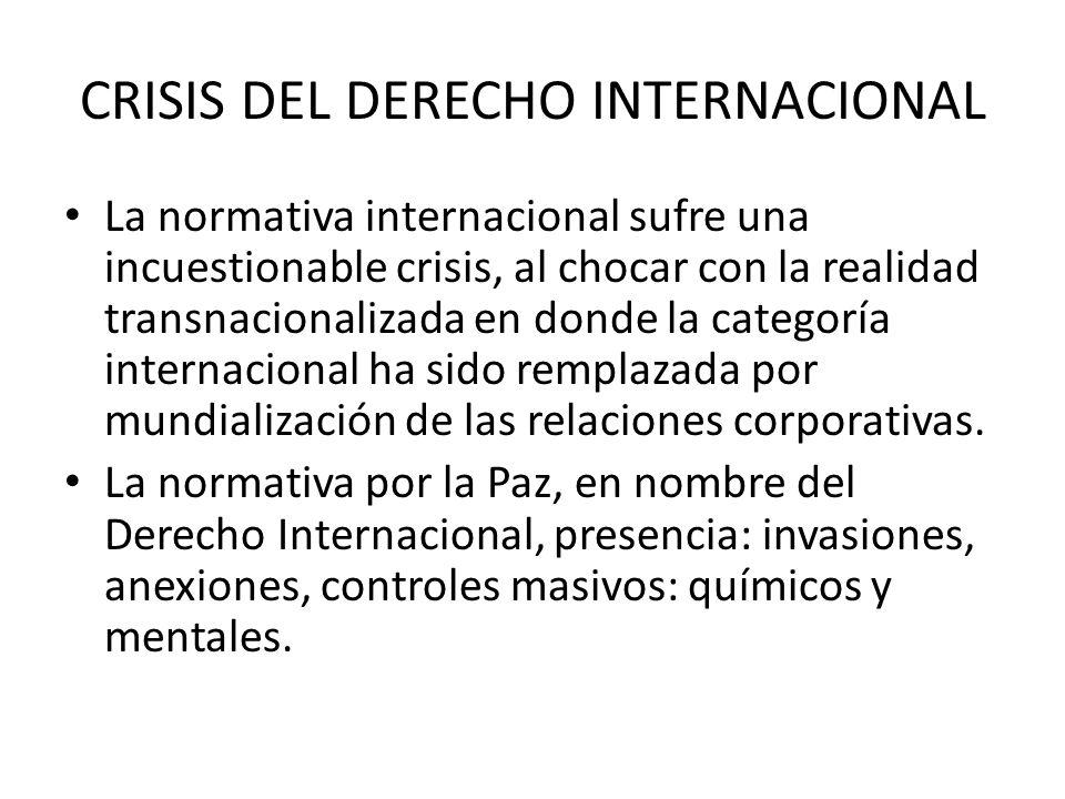 CRISIS DEL DERECHO INTERNACIONAL