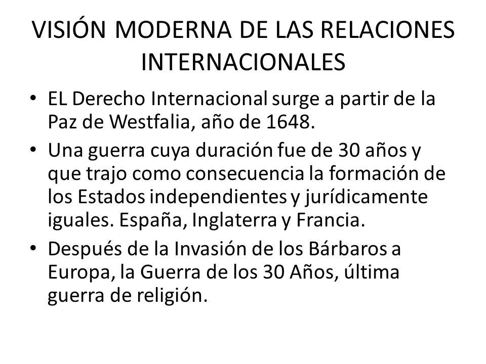 VISIÓN MODERNA DE LAS RELACIONES INTERNACIONALES