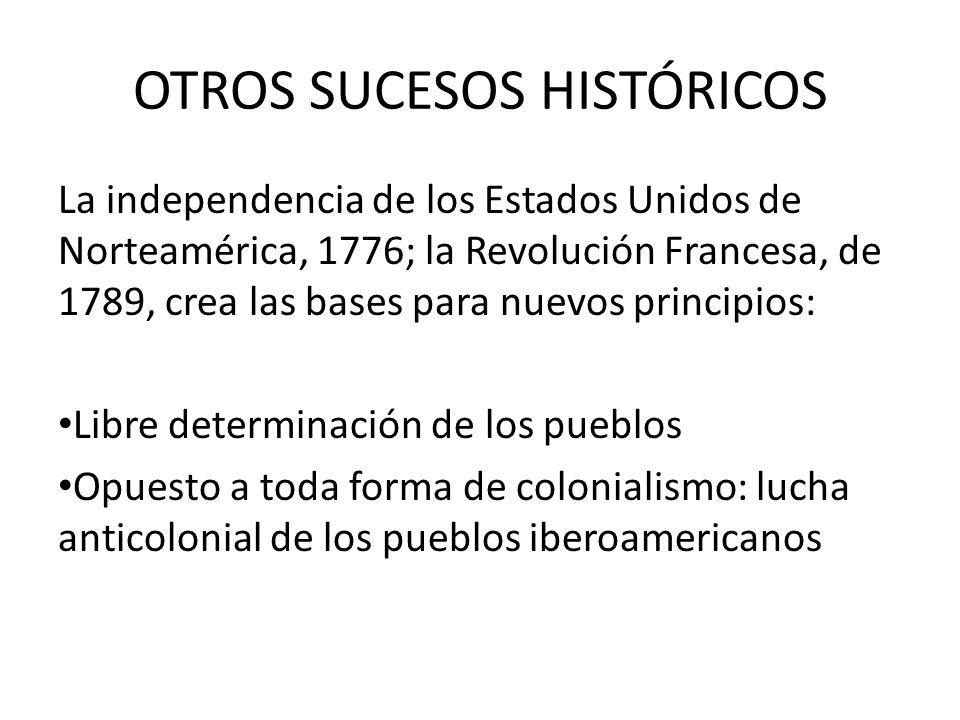 OTROS SUCESOS HISTÓRICOS