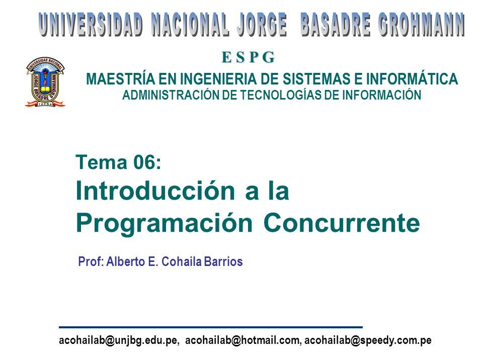 Tema 06: Introducción a la Programación Concurrente