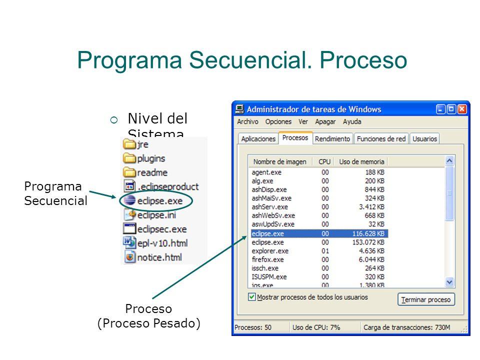 Programa Secuencial. Proceso