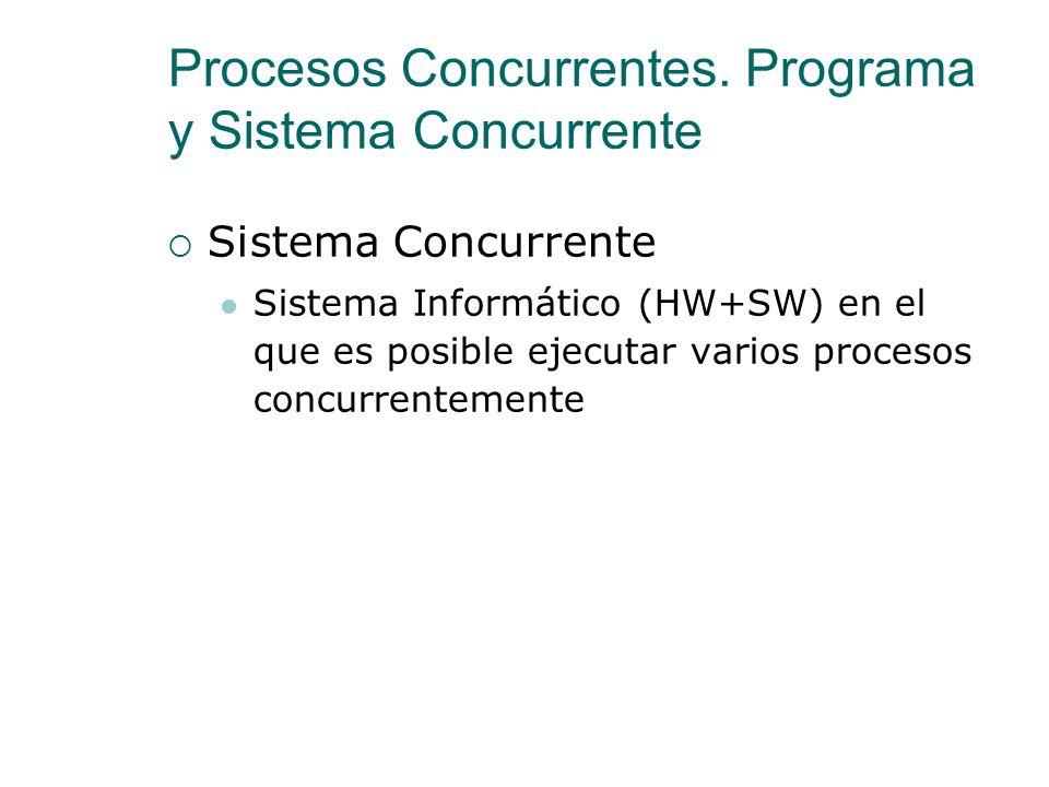 Procesos Concurrentes. Programa y Sistema Concurrente