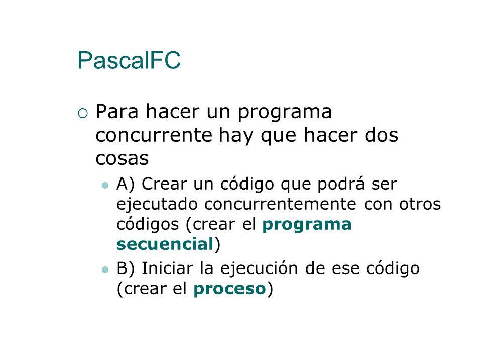 PascalFC Para hacer un programa concurrente hay que hacer dos cosas